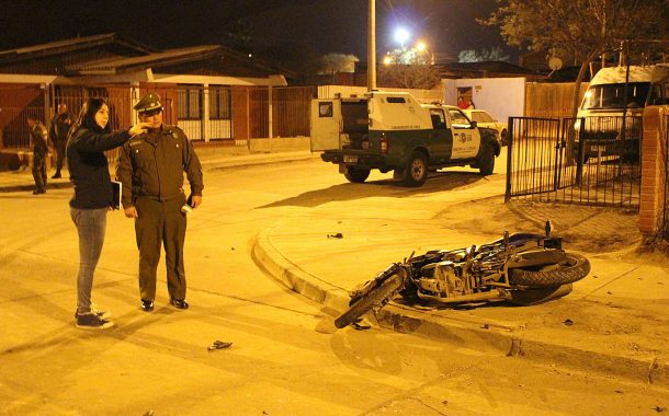 Fatal accidente  de motocicleta ocurrido en Copiapó