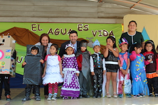 Comunidad Educativa cierra Proyecto FPA reutilizando el agua para Áreas Verdes en Vallenar.