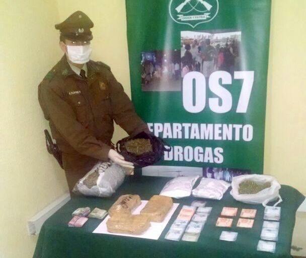 OS-7 DESBARATÓ ORGANIZACIÓN CRIMINAL DEDICADA AL TRÁFICO DE DROGAS EN CALDERA